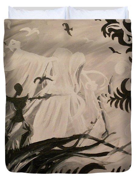 Dark And Light Duvet Cover by Lisa Leeman