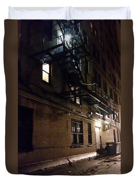 Dark And Rainy Night Duvet Cover