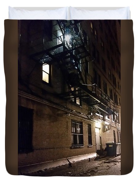 Dark And Rainy Night Duvet Cover