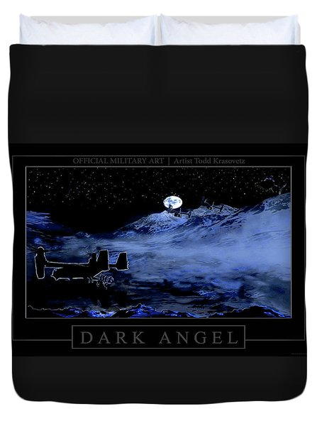 Dark Angel Duvet Cover by Todd Krasovetz