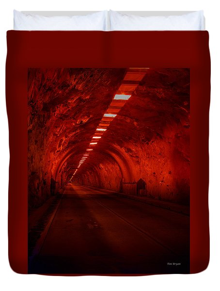 The Dark At The End Of The Tunnel Duvet Cover