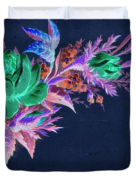 Dark Bouquet Duvet Cover