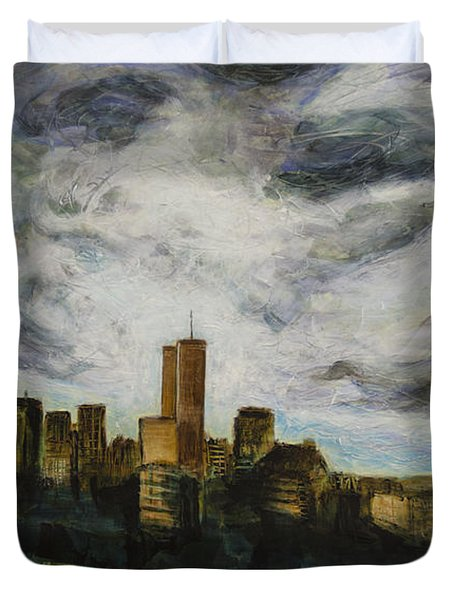 Dark Clouds Approaching Duvet Cover