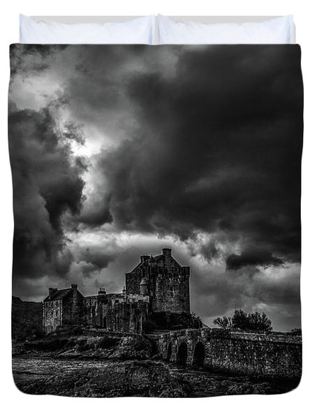 Duvet Cover featuring the photograph Dark Clouds Bw #h2 by Leif Sohlman