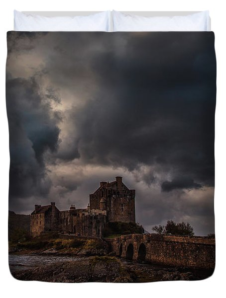 Duvet Cover featuring the photograph Dark Clouds #h2 by Leif Sohlman