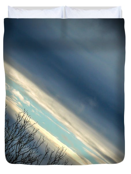 Dark Clouds Parting Duvet Cover