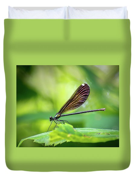 Duvet Cover featuring the photograph Dark Damsel by Bill Pevlor