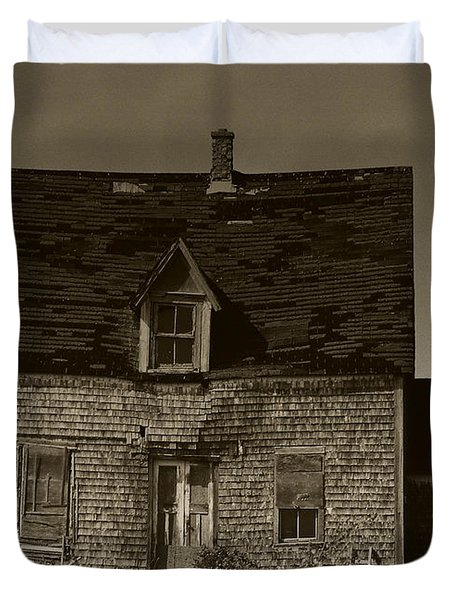 Duvet Cover featuring the photograph Dark Day On Lonely Street by RC DeWinter