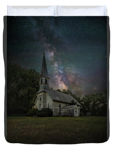 Duvet Cover featuring the photograph Dark Enchantment  by Aaron J Groen