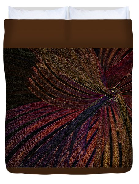 Dark Feather Duvet Cover by Constance Krejci