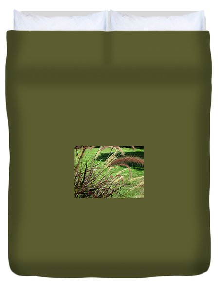 Dark Feather Grass Duvet Cover