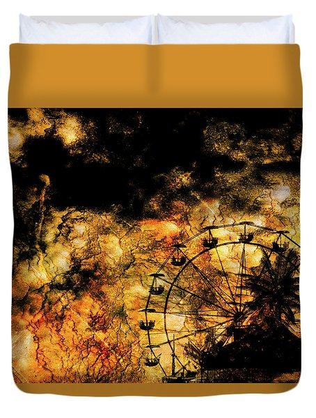 Dark Ferris Wheel Duvet Cover