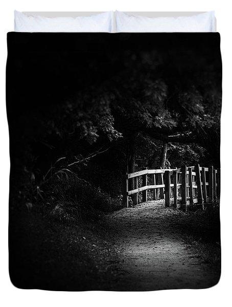 Dark Footbridge Duvet Cover