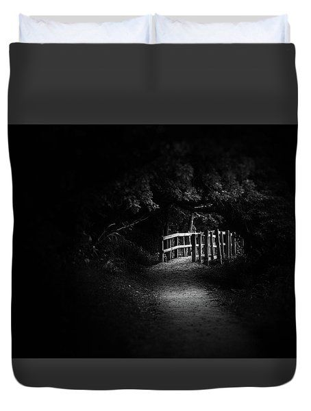 Dark Footbridge Duvet Cover