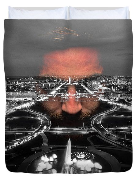 Dark Forces Controlling The City Duvet Cover