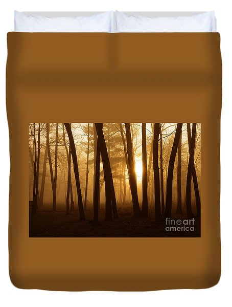 Dark Forest Duvet Cover by Terri Gostola