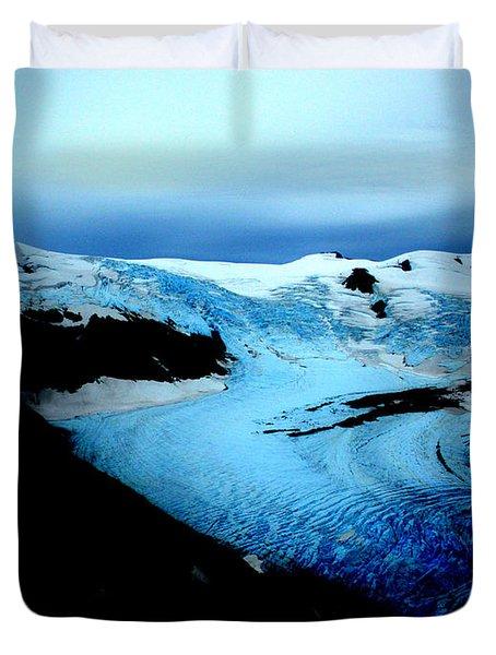Dark Glacier Duvet Cover