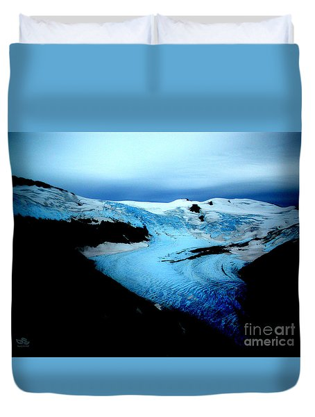 Dark Glacier Duvet Cover
