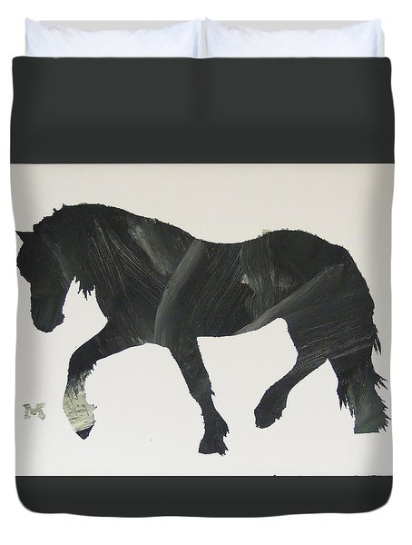 Dark Horse Coming Duvet Cover