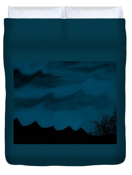 Dark Is The Night Duvet Cover