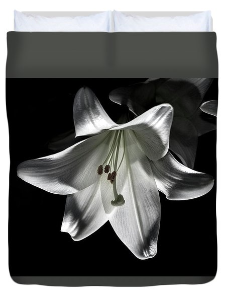 Dark Lilly Duvet Cover