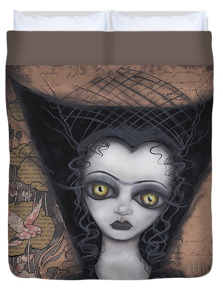 Dark Lily Duvet Cover by Abril Andrade Griffith
