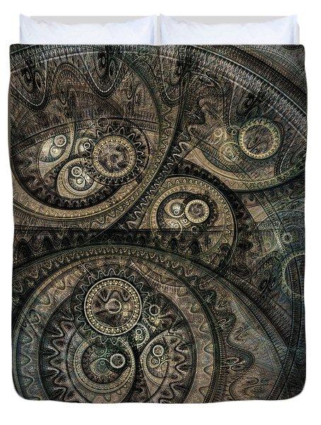 Dark Machine Duvet Cover by Martin Capek