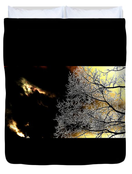 Dark Meets Light Duvet Cover