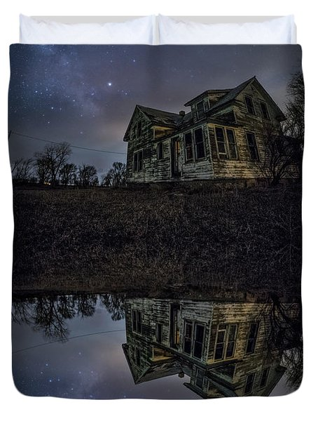 Duvet Cover featuring the photograph Dark Mirror by Aaron J Groen