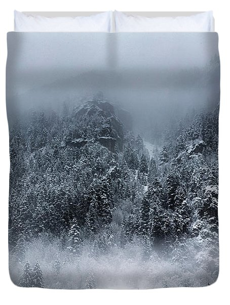 Dark Mountain Duvet Cover by Evgeni Dinev