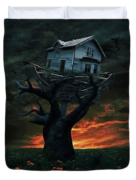 Dark Night Duvet Cover by Mihaela Pater
