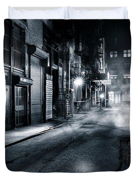 Dark Nyc Duvet Cover
