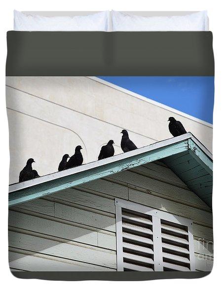 Dark Pigeons Duvet Cover
