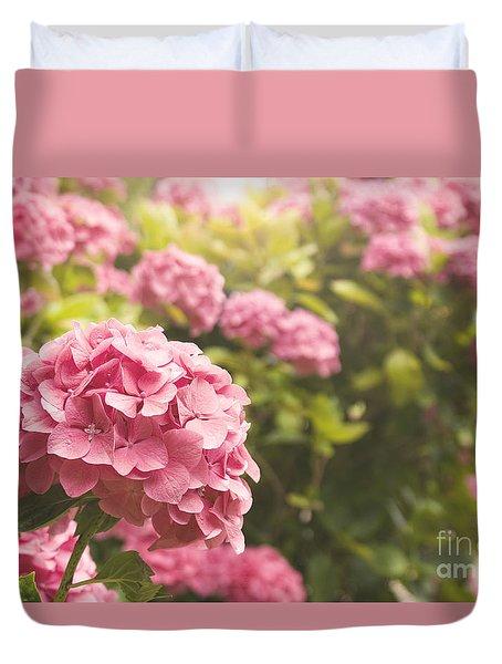 Dark Pink Hydrangea Duvet Cover