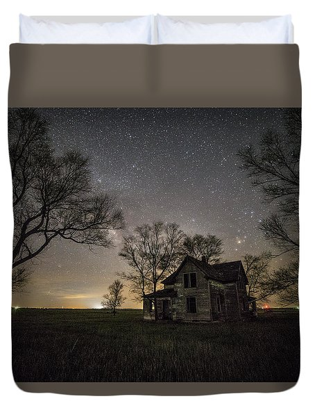 Dark Places On The Prairie  Duvet Cover by Aaron J Groen