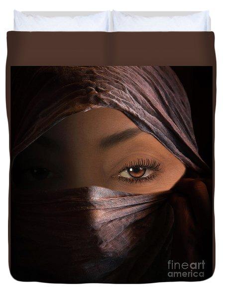 Duvet Cover featuring the photograph Dark Secrets by Jim  Hatch