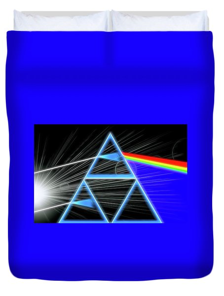 Duvet Cover featuring the digital art Dark Side Of The Moon by Dan Sproul