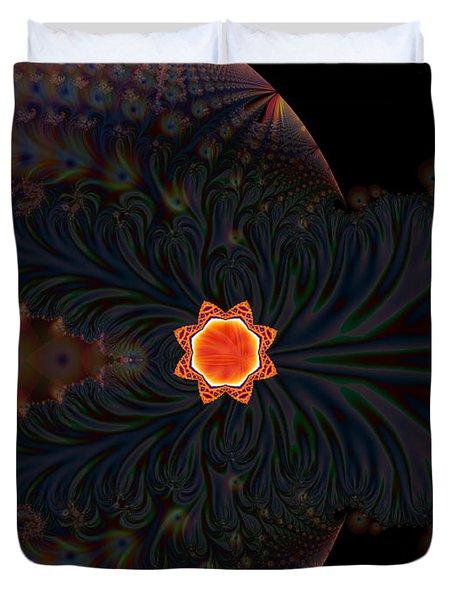 Dark Space Fractal  Duvet Cover