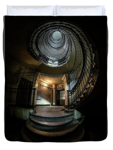 Dark Spiral Staircase Duvet Cover