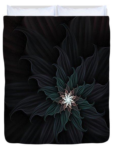 Dark Star Flower Duvet Cover