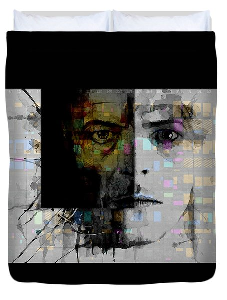 Duvet Cover featuring the painting Dark Star by Paul Lovering