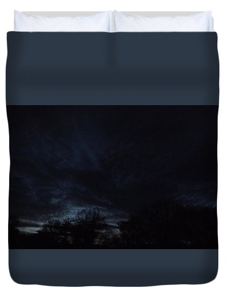 Duvet Cover featuring the photograph Dark Storm by Don Koester