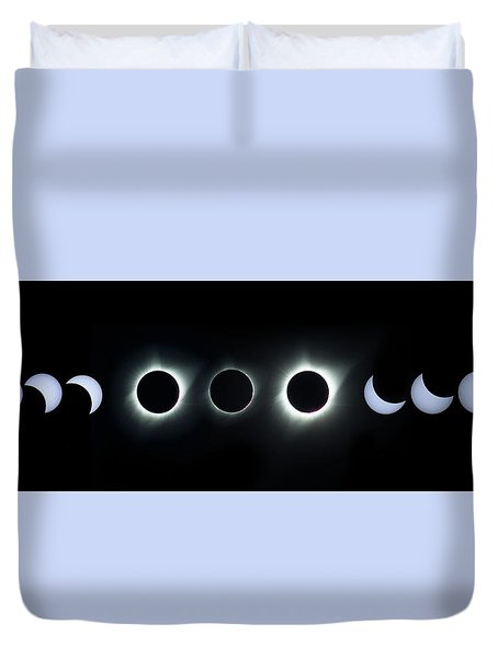 Dark Sun Duvet Cover by James Heckt