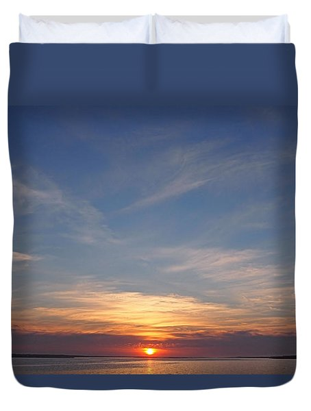 Duvet Cover featuring the photograph Dark Sunrise by  Newwwman