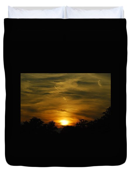 Dark Sunset Duvet Cover