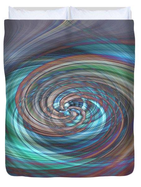 Dark Swirls Duvet Cover
