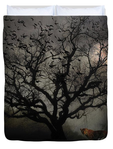 Dark Valley Duvet Cover by Chris Armytage