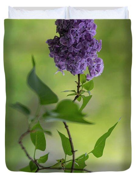 Dark Violet Lilac Duvet Cover
