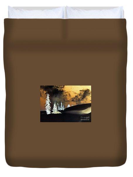 Dark Winter Duvet Cover