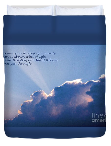 Darkest Of Moments Duvet Cover